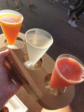 Shimmering Sips Mimosa Flight: Tropical - 10/10 Key Lime - 8/10 Blood Orange - 3/10